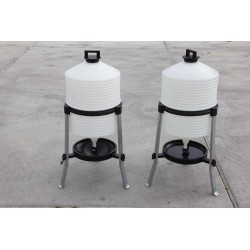 Drinkton 30l op poten - in PVC
